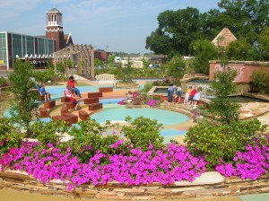 Cecil Traylor Wilson Gardens provide a great place to relax just off the downtown square.